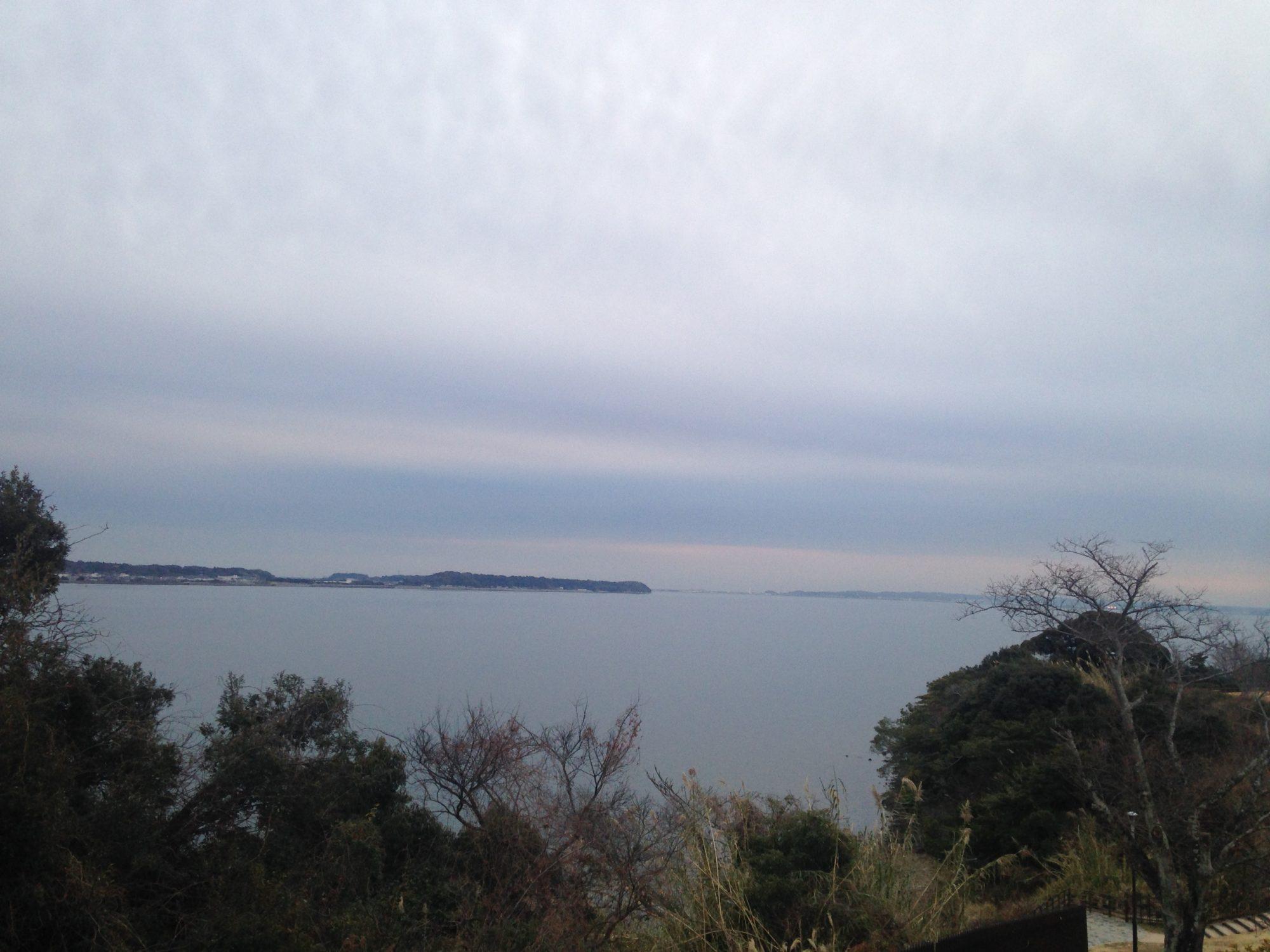 浜名湖夕方