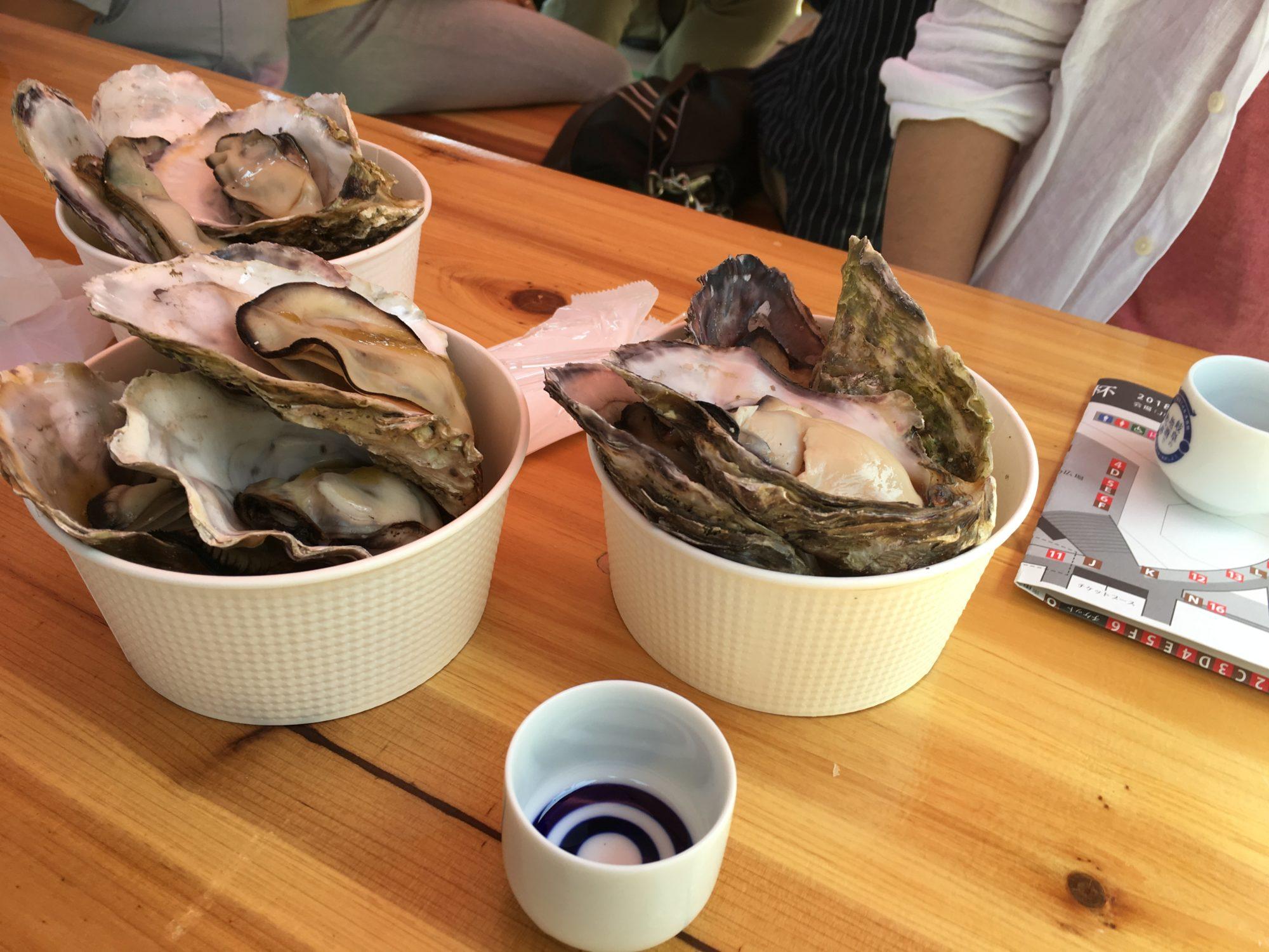 蒸し牡蠣(1)